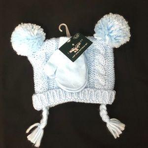 BOGO 50% Laura Ashley baby Hat & Mittens Set